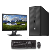 "hp Elite 800 G1 Tower - Intel Core i7 - 4GB - 500GB HDD + 23"" Widescreen LCD"