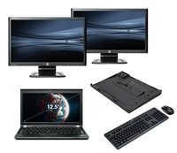 "lenovo Thinkpad X230 - Intel Core i5 - 4GB - 320GB HDD + Docking + Dual 2x 23"" Widescreen Full HD Monitor"