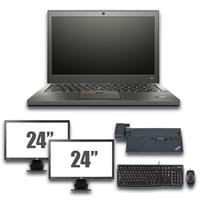 "lenovo Thinkpad X250 - Intel Core i5 - 8GB - 120GB SSD + Docking + Dual 2x 24"" Widescreen Monitor"