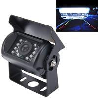Universele 720× 540 effectieve pixel NTSC 60Hz CMOS II waterdichte auto achteruitrijcamera achteruitrijcamera met 18 LED-lampen, DC 12-24V