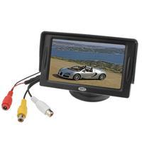 4.3 inch TFT LCD Car achteruitkijkmonitor met standaard en zonnescherm (zwart)