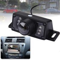 2.4G draadloze dvd auto achteruitrijcamera nachtzicht achteruitrijcamera met 7 LED's, brede kijkhoek: 120° (WX320EBS) (zwart)