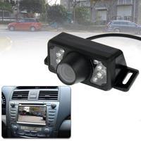 7 LED IR infrarood waterdichte nachtzicht Draadloze korte lens DVD Achteraanzicht met schaalplaat, ondersteuning geïnstalleerd in auto DVD Navigator, brede kijkhoek: 140 graden (WX002) (zwart)