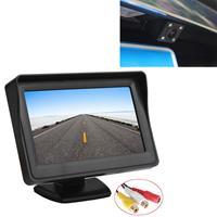 PZ601-C TFT LCD 2 video-ingang 4.3 inch parkeermonitor 2 in 1 met 648 * 488 pixels Achteruitrijcamera Glaslens met 6m RCA-videokabel