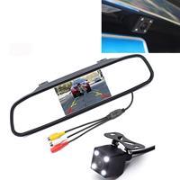 PZ603 Auto-videomonitor HD Auto Parking LED Nachtzicht CCD achteruitrijcamera met achteruitkijkspiegel van 4,3 inch