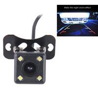 720× 540 effectieve Pixel PAL 50Hz / NTSC 60Hz CMOS II waterdichte universele auto achteruitrijcamera achteruitrijcamera met 4 LED-lamp, DC 12V, draadlengte: 4m