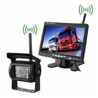 PZ607-W Draadloze voertuigvrachtwagen Backup-camera en monitor Infrarood nachtzicht Achteruitrijcamera met 7 inch HD-monitor voor RV-aanhanger