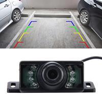 7 LED IR infrarood waterdichte nachtzicht achteruitrijcamera voor auto GPS, brede kijkhoek: 170 graden (DM320P) (zwart)