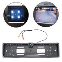 JX-9488 720x540 Effectieve Pixel NTSC 60HZ CMOS II Universele waterdichte auto Koolstofvezel achteruitrijcamera Backup-camera met 2W 80LM 5000K wit licht 4LED-lamp, DC 12V, draadlengte: 4m