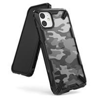 Ringke Fusion X Design iPhone 11 Hoesje - Camouflage / Zwart