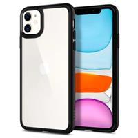 Spigen Ultra Hybrid iPhone 11 Cover - Zwart / Doorzichtig