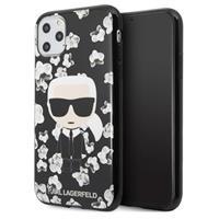 Karl Lagerfeld Flower iPhone 11 Pro TPU Cover - Zwart