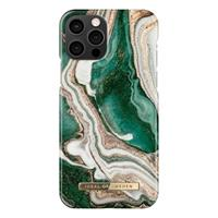 iDeal of Sweden Fashion iPhone 12/12 Pro Cover - Gouden Jade Marmer