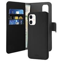 Puro 2-in-1 iPhone 11 Magnetische Portemonnee Hoesje - Zwart