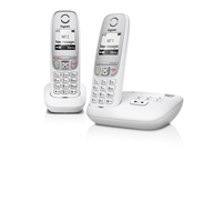 Gigaset A415A Duo - white - answering machine - 2 pieces