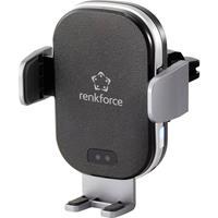 renkforce RF-WCC-300 Ventilatierooster Telefoonhouder voor in de auto Met inductielader 91 - 59 mm 6.5 - 4 inch