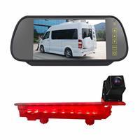 PZ470 Auto Waterdicht 170 Graden Remlicht View Camera + 7 inch Achteruitkijkspiegel Monitor voor Volkswagen T5 / T6 2010-2017