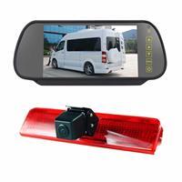 PZ476 Auto Waterdicht 170 Graden Remlicht View Camera + 7 inch Achteruitkijkspiegel Monitor voor Volkswagen Caddy 2013-2015