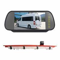 PZ468 Auto Waterdicht 170 Graden Remlicht View Camera + 7 inch Achteruitkijkspiegel Monitor voor Mercedes-Benz Vito 2016