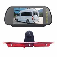 PZ466 Auto Waterdicht 170 Graden Remlicht View Camera + 7 inch Achteruitkijk Monitor voor Ford Transit 2014-2015