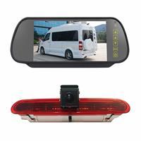 PZ472 Auto Waterdicht 170 Graden Remlicht View Camera + 7 inch Achteruitkijk Monitor voor Fiat / Opel