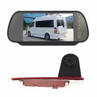 PZ477 Auto Waterdicht 170 Graden Remlicht View Camera + 7 inch Achteruitkijk Monitor voor Ford Transit Custom