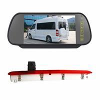 PZ473 Auto Waterdicht 170 Graden Remlicht View Camera + 7 inch Achteruitkijk Monitor voor Volkswagen T6 Enkele Deur