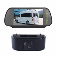 PZ469 Auto Waterdicht 170 Graden Remlicht View Camera + 7 inch Achteruitkijkspiegel Monitor voor Nissan N200 2010-2017