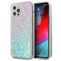 Guess 4G Liquid Glitter iPhone 12/12 Pro Hybride Hoesje - Roze / Blauw
