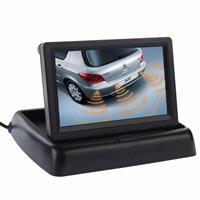 4,3 inch vouwwagen achteruitkijk LCD-monitor, 2 kanalen AV-ingang (zwart)