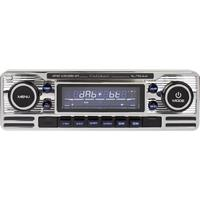caliberaudiotechnology Caliber Audio Technology RMD120DAB-BT Autoradio enkel DIN Bluetooth handsfree, Incl. DAB-antenne, Retrodesign