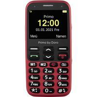 Primo by DORO 368 Senioren mobiele telefoon SOS-knop Rood