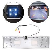JX-9488 720x540 Effectieve Pixel NTSC 60HZ CMOS II Universele waterdichte auto achteruitrijcamera achteruitrijcamera met 2W 80LM 5000K wit licht 4LED lamp, DC 12V, draadlengte: 4m (zilver)