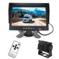 PZ612-AHD IP67 120 graden auto AHD 1080P 2 megapixels 7 inch 1-weg achteruitkijkspiegel monitor, nachtzicht volledige kleur