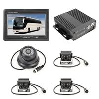 Truck 360 graden real-time monitoring 4 CH SD Real-time 720P 1280 * 720 Pixels SD mobiele DVR, ondersteuning SD-kaart (max 128G), met monitor