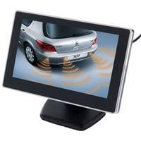 4,3 inch auto achteruitkijk LCD-monitor met standaard, 2 kanalen AV-ingang (zwart)