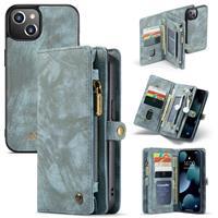 iPhone 13 -  - vintage 2 in 1 portemonnee hoes - Blauw