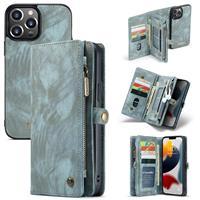 iPhone 13 Pro -  - vintage 2 in 1 portemonnee hoes - Blauw