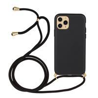 Backcover hoes met koord - iPhone 13 Pro - Zwart