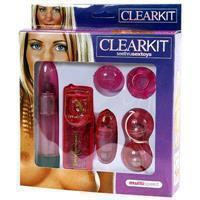 Clear Vibrator Kit Pink