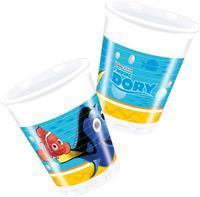 Disney 8 plastic Finding Dory bekers