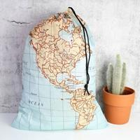 Kikkerland Travel Laundry Bag - Maps