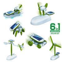 Powerplus 6 in 1 Solar Robot Kit