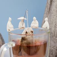 Kikkerland Tea Fishermen (set van 4)