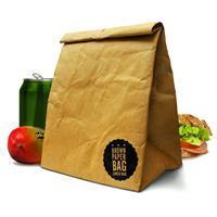 Luckies Bruine papieren lunch bag