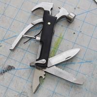 Kikkerland 10-in-1 hamer van hout - Zwart