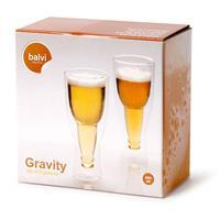 Balvi Gravity bierglazen - 250 ml (set van 2)