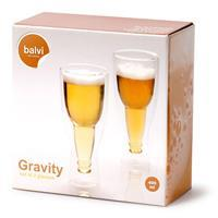 Balvi Gravity bierglazen - 400 ml (set van 2)