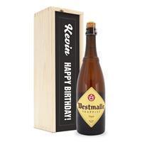 YourSurprise Bier in bedrukte kist - Westmalle Tripel