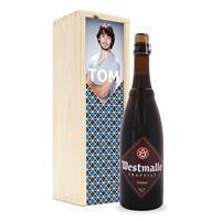 YourSurprise Bier in bedrukte kist - Westmalle Dubbel